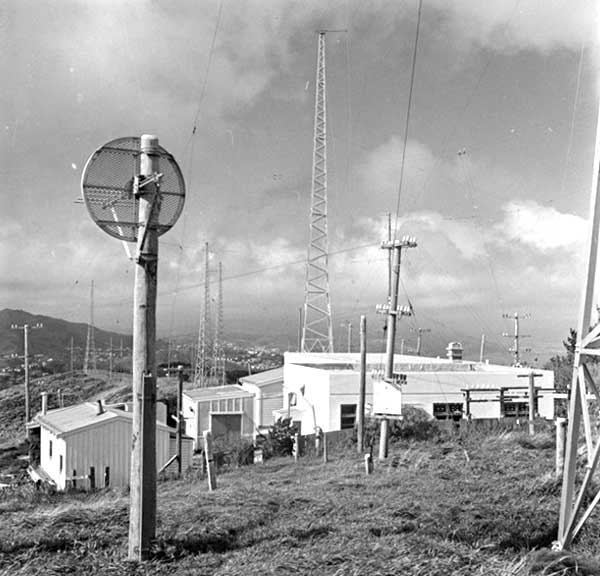 Wellington Radio ZLW on Tinakori Hill in 1957.