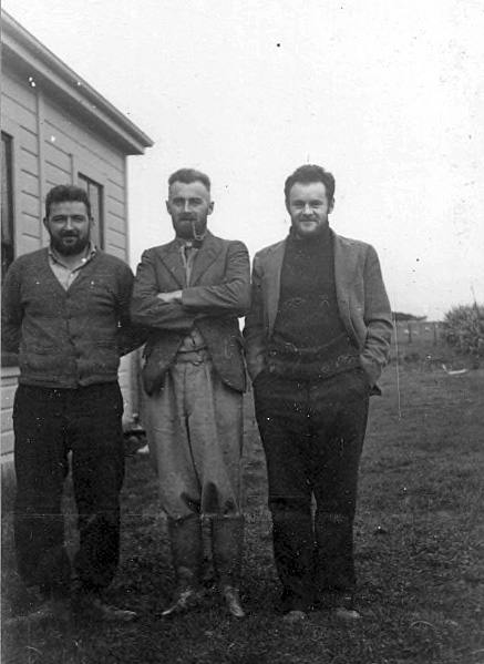 Bill Farr, Bill Burt and Alan Glennie in 1944