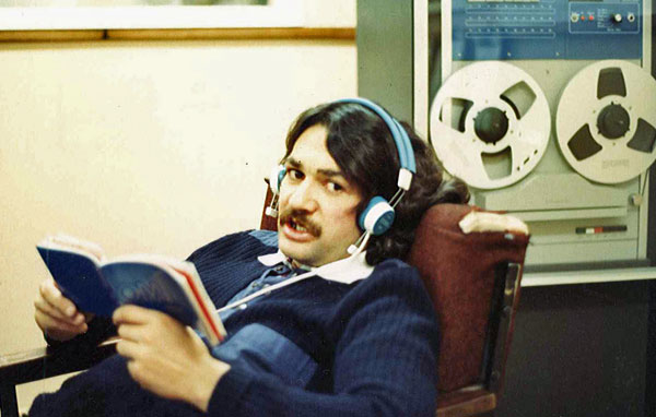 Ted Day at Chatham Islands Radio c1982
