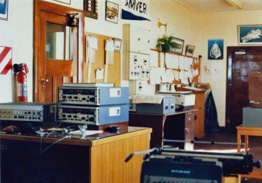 Receiving station at Awarua Radio, date unknown