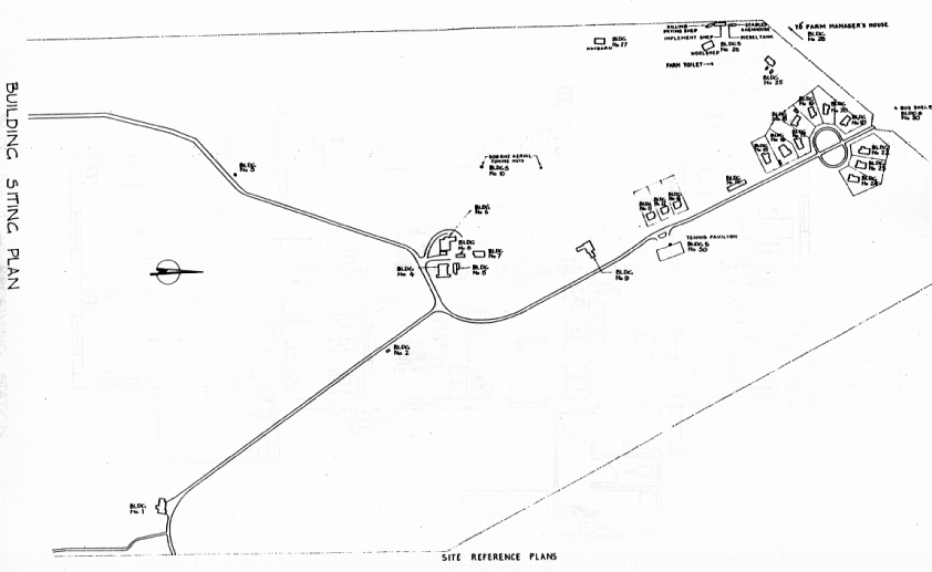 Site plan of Awarua Radio ZLB c1985