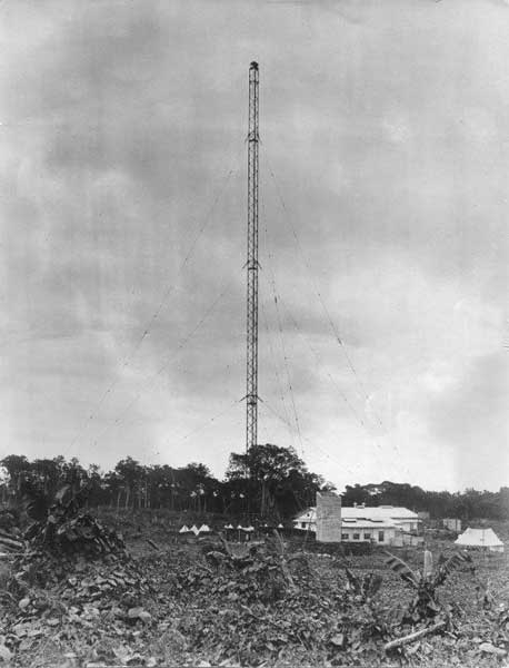 The Telefunken wireless station at Apia, Samoa. Date unknown