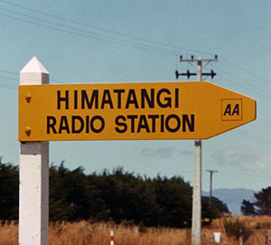 Himatangi Radio road sign