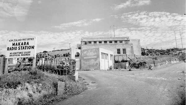 Makara Radio receiving station. Date unknown.