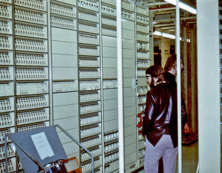 Telephone channel multiplexers at Wellington Radphones, c1970