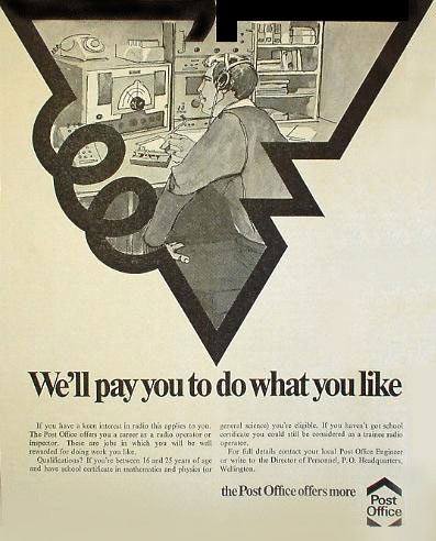 New Zealand Post Office newspaper advertisement seeking radio operators