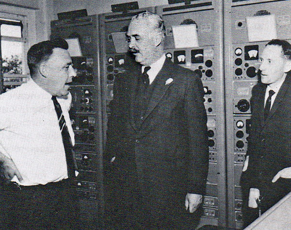 The Governor-General, Sir Bernard Fergusson, visits Makara Radio, 11 December 1964