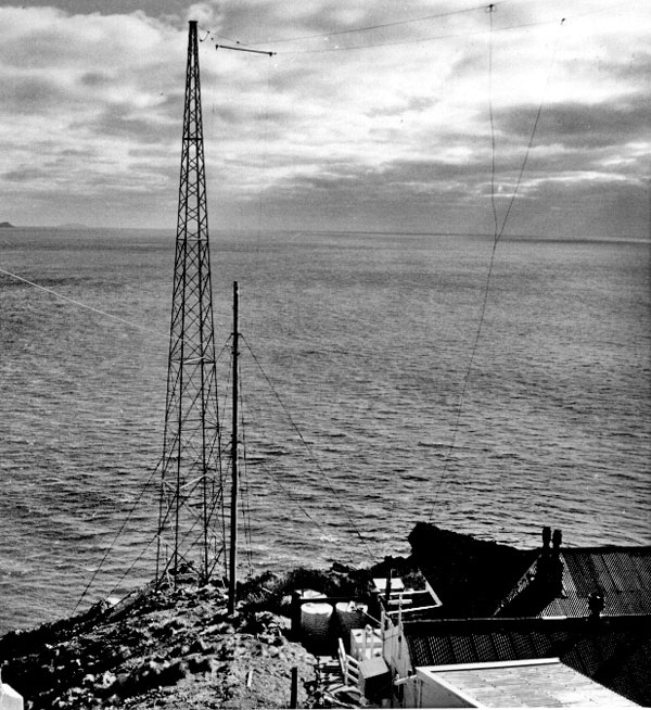 Radio aerials at Brothers Island lighthouse