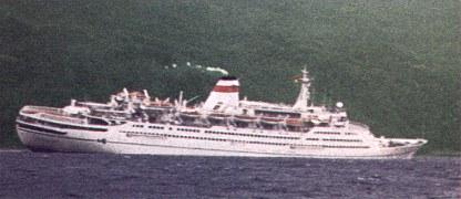 Russian cruise ship Mikhail Lermontov sinking