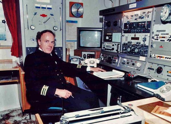 Radio room aboard inter-island ferry Aratika ZMFL