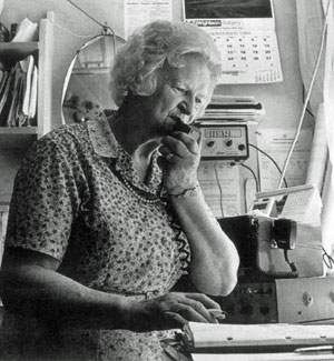 Betty Baker operating Cape Jackson Radio