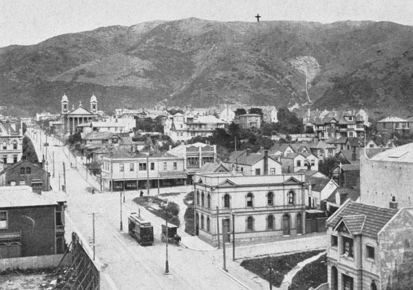 The new wireless station will be built on the Tinakori Hills above Wellington