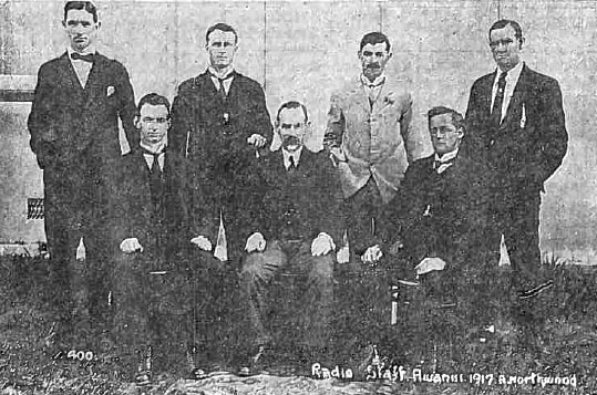 Awanui Radio staff in 1917