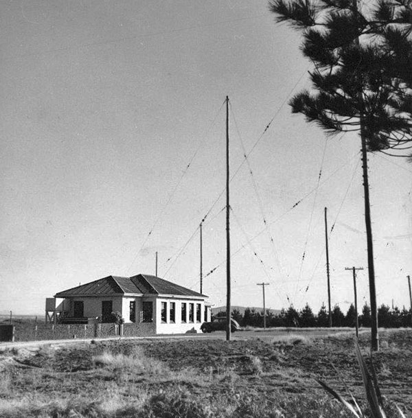 East and north sides of the Awarua Radio receiving station, date unknown