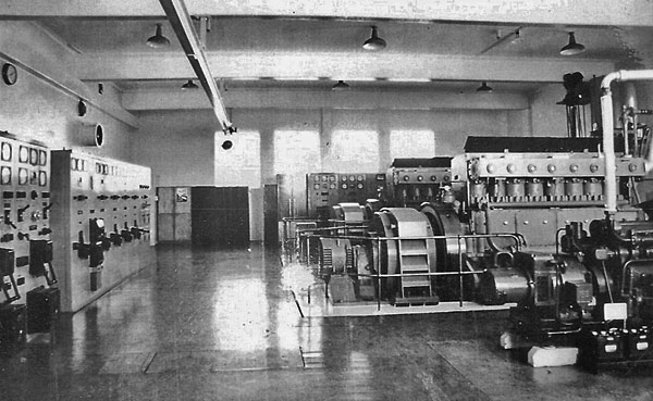 This photo, taken in 1969 or later, shows the smaller Lister generator in the foreground.
