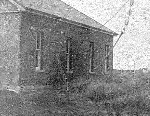 Detail of the Awarua Radio transmitter building, taken from the previous photo.