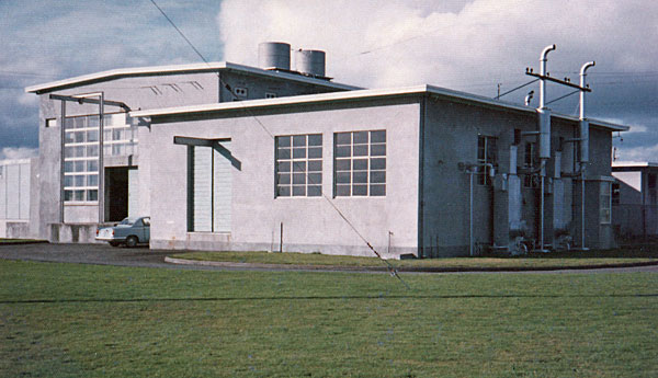 Engine room and southwest corner of transmitter hall, c1970