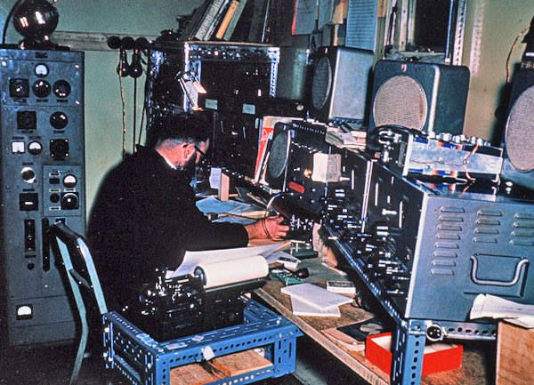 Scott Base radio room in 1959-1960