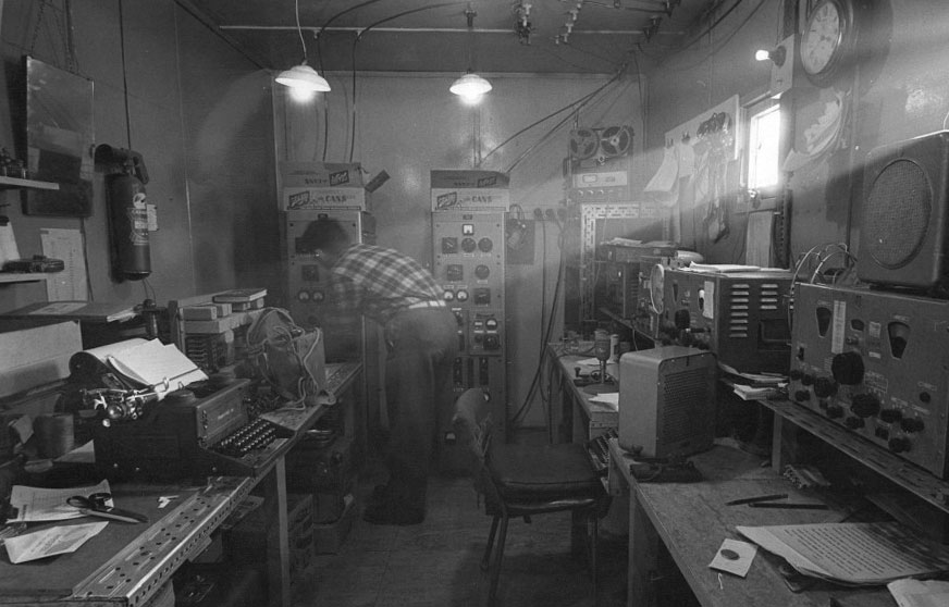 Scott Base radio room 1966-1967
