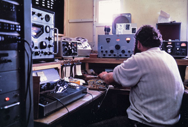 Scott Base radio room 1969-1970