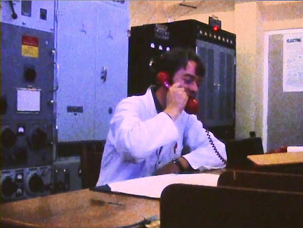 Chief Technician Chris Underwood at Wellington Radio ZLW in 1970