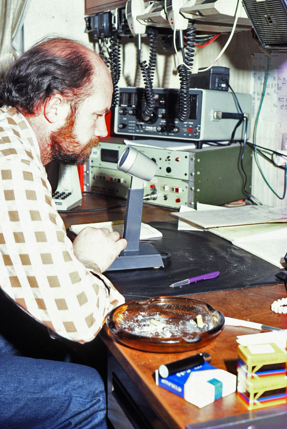 Bruce McDonald in the Scott Base radio room 1987-1988
