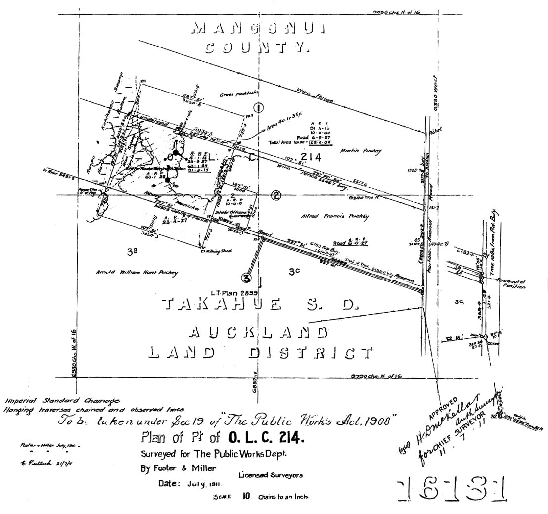 Site plan for Awanui Wireless Station
