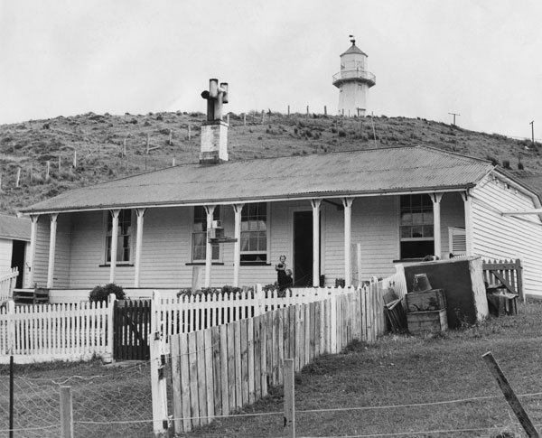 Pencarrow lightkeeper's house in 1958