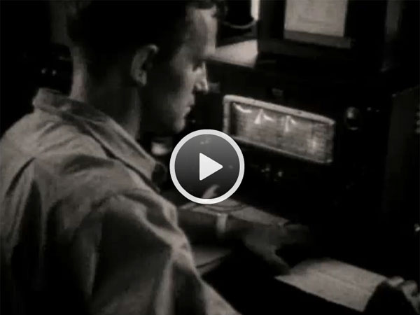 1949 video showing the taking of weather observations and transmitting them to New Zealand
