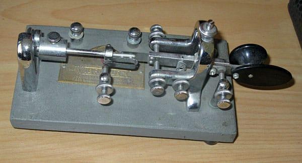 Clyde's Vibroplex 'Original' bug (semi-automatic telegraph key)