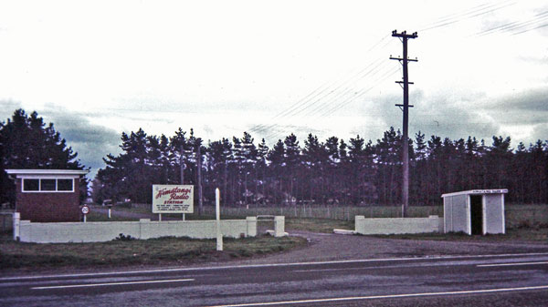 Palmerston North - Wellington Coaxial Bearer brick building at Himatangi Radio gateway in the 1970s
