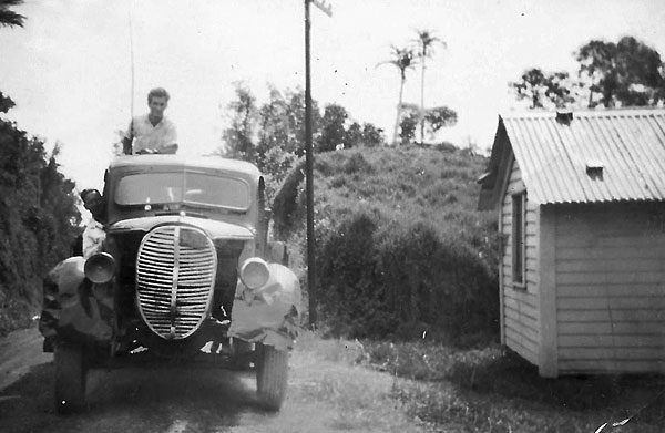 Ford truck on Raoul Island, 1950