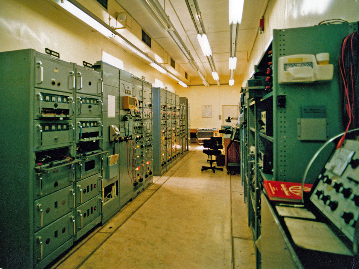 Drive Room looking east towards the air-con room, c1970s