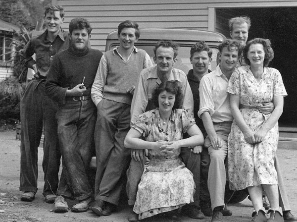 Some of the Milford Sound residents in 1953.