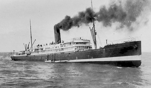 Pumping furiously, engineers of the steamer Tahiti kept their ship afloat for two and a half days after a broken propeller shaft pierced her hull.