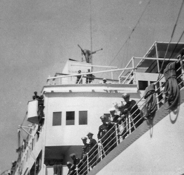 Royal Yacht Gothic in Milford Sound, 30 January 1954