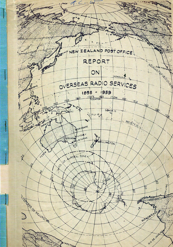 Cover of the 1958 NZPO Report on Overseas Radio Services