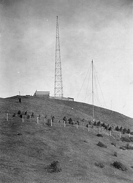 Wellington Radio ZLW with steel lattice tower erected in 1923