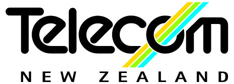 The first Telecom New Zealand logo