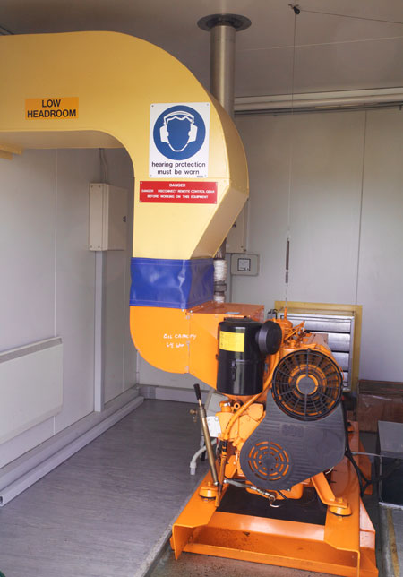 Diesel generator for back up power at the Taupo Radio transmitter site