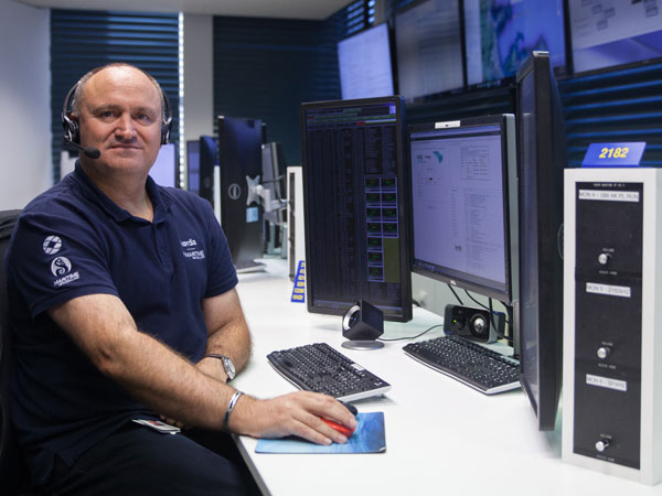 James Lamb, at the Maritime Operations Centre - Taupo Radio, Nov 2017