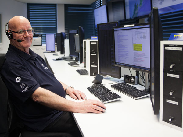 Peter Baird at the Maritime Operations Centre – Taupo Radio, Nov 2017