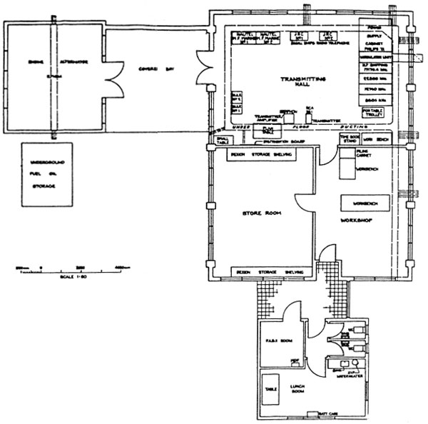 Layout of the 1978 transmitter building at ZL