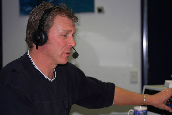 Simon Tebby at Taupo Maritime Radio, May 2008