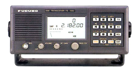 During 2012, Taupo Radio used separate transceivers for transmitting and receiving DSC. The Furuno 1562 was used for receiving.