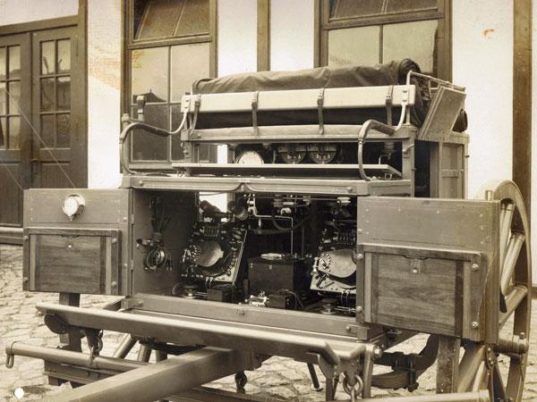 Telefunken mobile wireless station, 1912