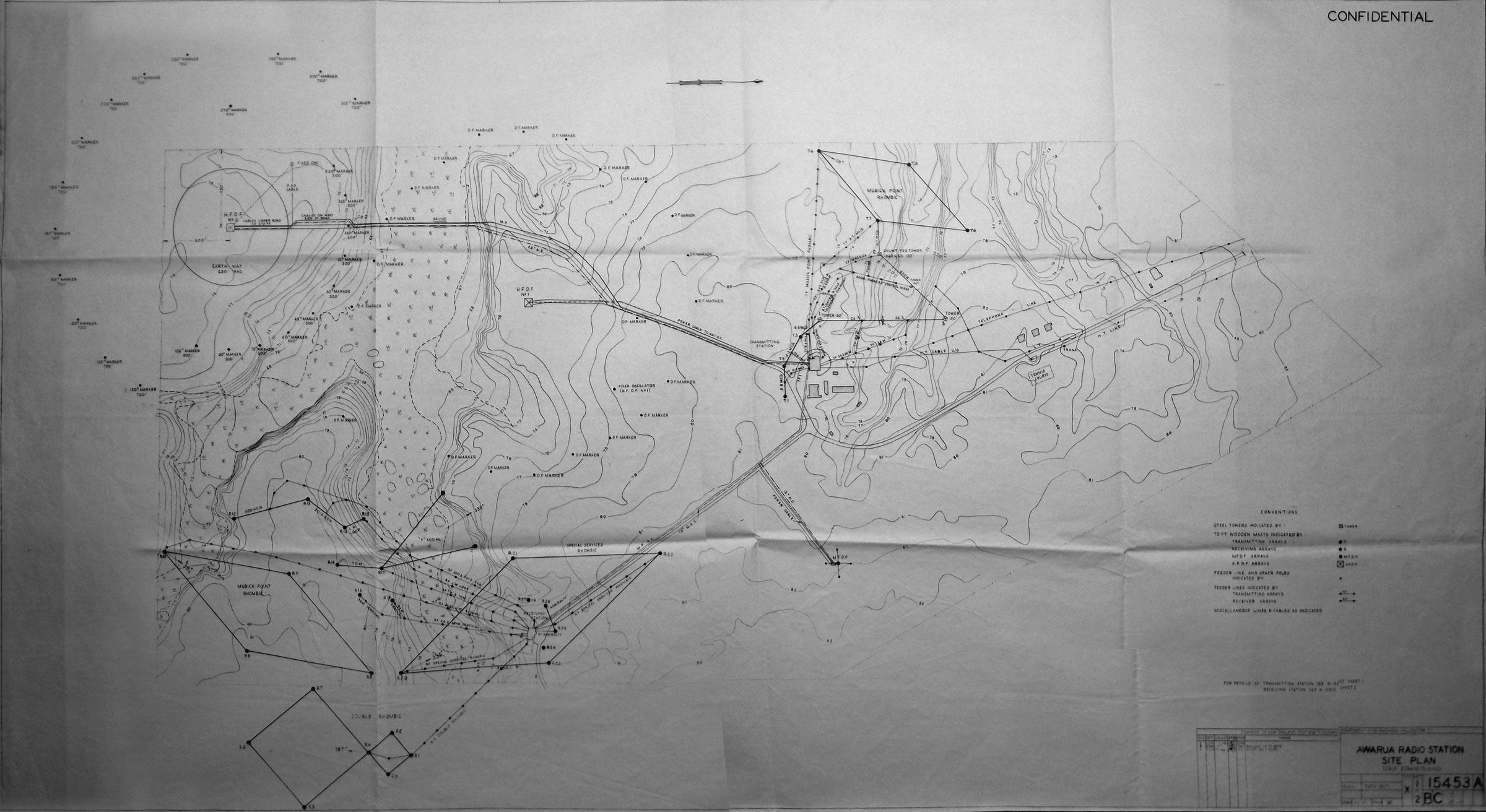 1945 aerial plan for Awarua Radio