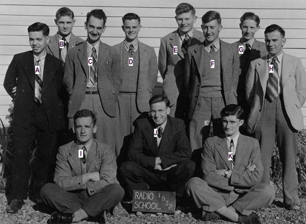 Trainees at radio training school, Trentham, in 1952