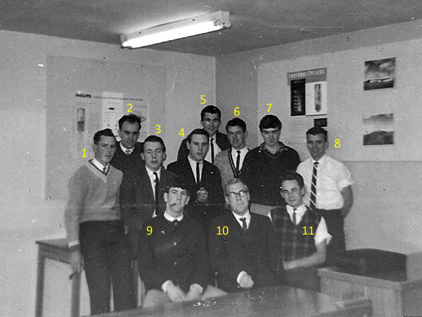 Trainees at Rugby St radio training school in November 1963