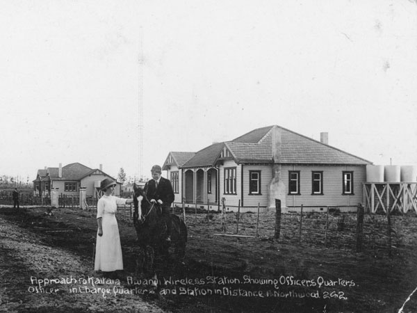 Accommodations at Awanui Radio, 1919